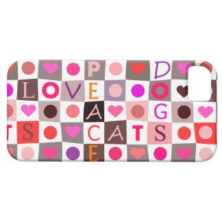 Love Peace Dogs Cats iPhone SE/5/5s Case