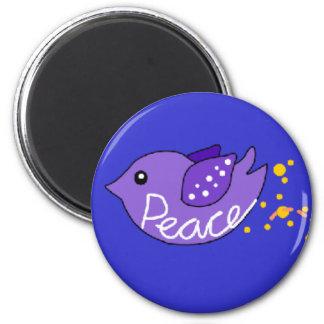 Love, Peace, Freedom & Joy Birds 2 Inch Round Magnet