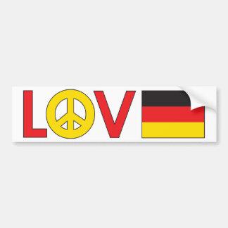 Love Peace Germany Bumper Sticker