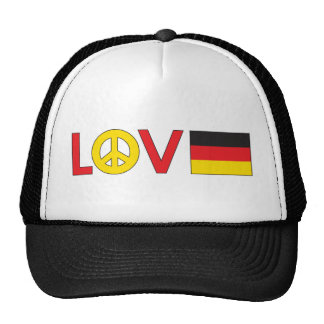 Love Peace Germany Mesh Hats