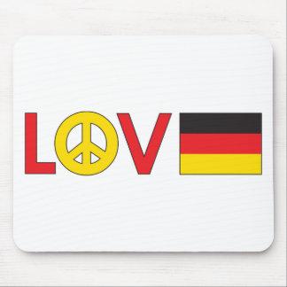 Love Peace Germany Mousepad