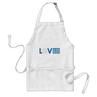 Love Peace Greece Apron