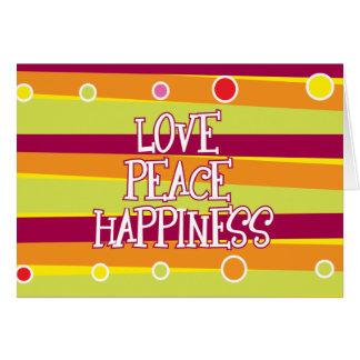 Love, Peace, Happiness Card
