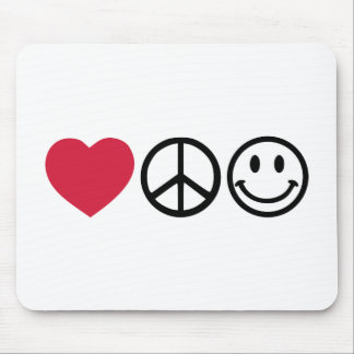 Love Peace Happiness Mouse Pad