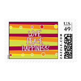Love, Peace, Happiness Stamp