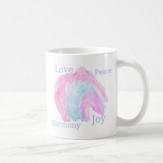 love peace harmony joy classic white coffee mug
