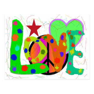 Love PEACE & Harmony T-Shirts and Gifts Postcards