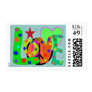 Love PEACE & Harmony T-Shirts and Gifts Stamp