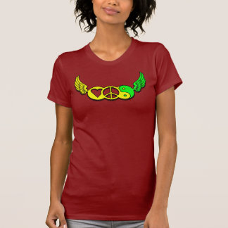 Love Peace Harmony Woman Red T-Shirt
