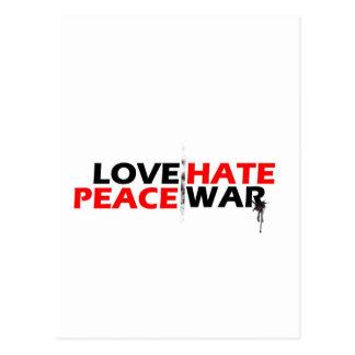 Love Peace Hate War Postcard