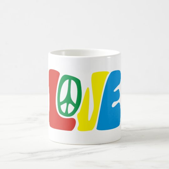 Love Peace hippie Coffee Mug