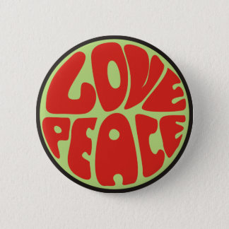 love peace hippie saying button