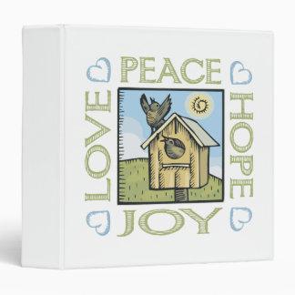 Love, Peace, Hope, Joy 3 Ring Binder