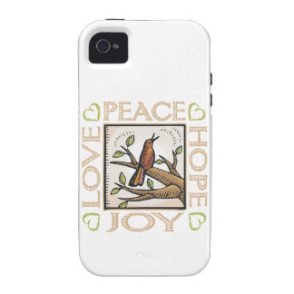 Love, Peace, Hope, Joy Vibe iPhone 4 Covers