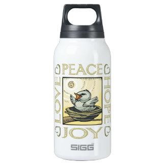 Love, Peace, Hope, Joy Insulated Water Bottle