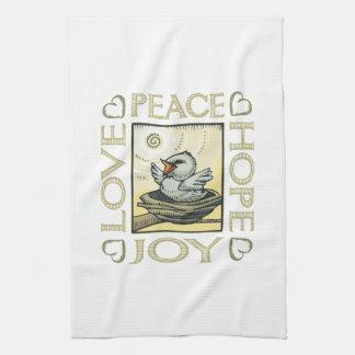 Love, Peace, Hope, Joy Hand Towel