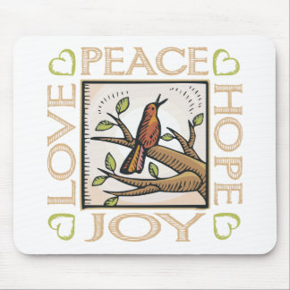 Love, Peace, Hope, Joy Mouse Pad
