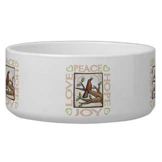 Love, Peace, Hope, Joy Dog Food Bowls