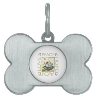 Love, Peace, Hope, Joy Pet ID Tag