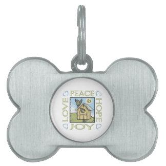 Love, Peace, Hope, Joy Pet Tag