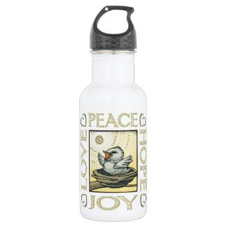 Love, Peace, Hope, Joy 18oz Water Bottle