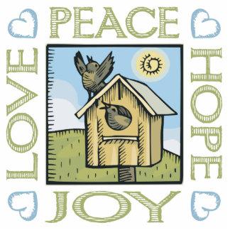 Love, Peace, Hope, Joy Standing Photo Sculpture