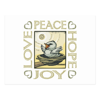 Love, Peace, Hope, Joy Postcard