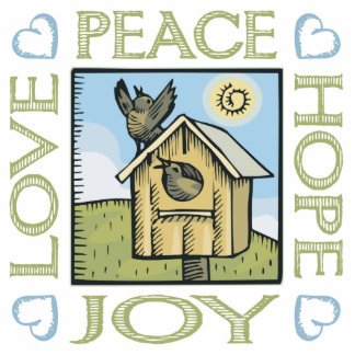 Love, Peace, Hope, Joy Statuette