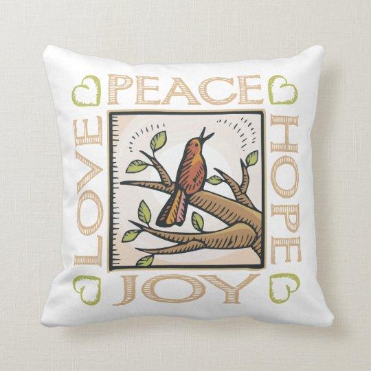 Love, Peace, Hope, Joy Throw Pillow