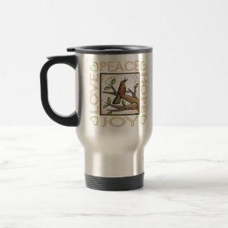 Love, Peace, Hope, Joy Travel Mug