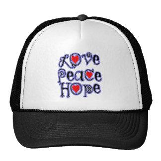 love peace hope trucker hat