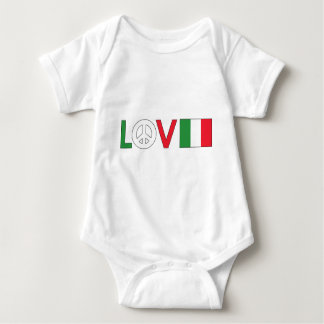 Love Peace Italy Baby Bodysuit