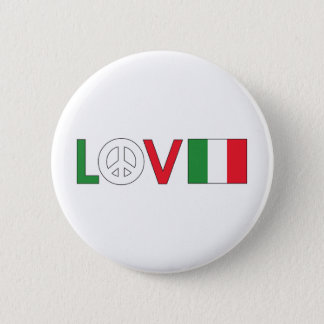 Love Peace Italy Button