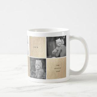 Love Peace Joy Blocks Photo Collage Holiday Mug