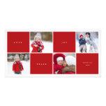 Love Peace Joy Color Blocks Photo Collage Holiday Photo Card