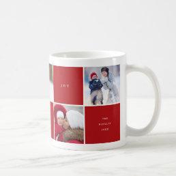 Love Peace Joy Color Blocks Photo Collage Mug