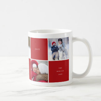 Love Peace Joy Color Blocks Photo Collage Mug