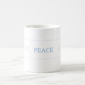 LOVE   PEACE   JOY - Customized Classic White Coffee Mug