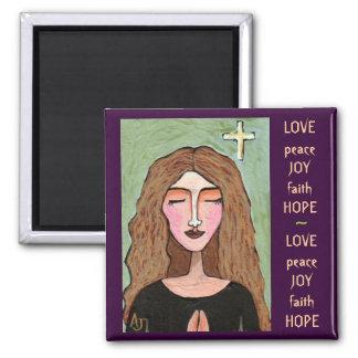 Love, Peace, Joy, Faith & Hope - magnet