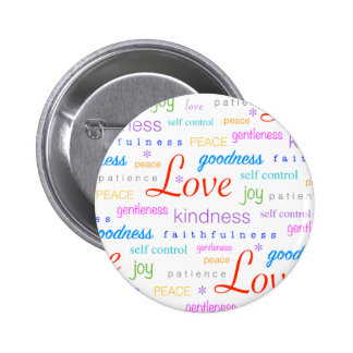 Love Peace Joy Fruit of Spirit Gifts 2 Inch Round Button