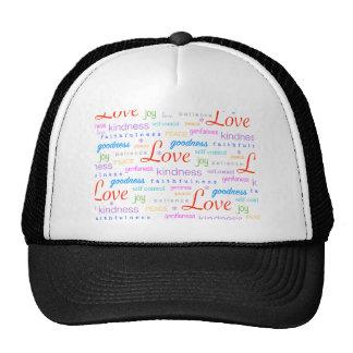 Love Peace Joy Fruit of Spirit Gifts Trucker Hat