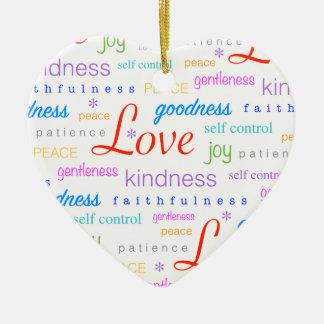 Love PEACE Joy Fruit of the Spirit Colorful Ceramic Ornament