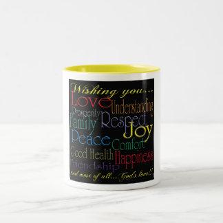 Love Peace Joy Happiness Mug