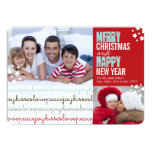 Love Peace Joy Kisses Holiday Photo Flat Card Personalized Invite
