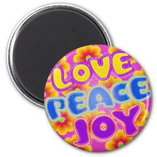Love, Peace, Joy Magnets