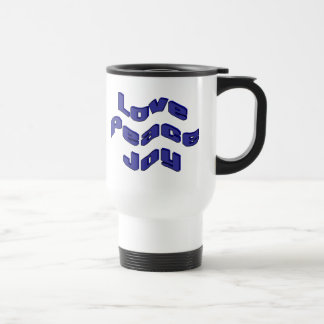 Love Peace Joy 15 Oz Stainless Steel Travel Mug