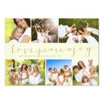 Love Peace Joy Multi Grid Holiday Photo Greetings Custom Invite