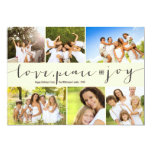 Love Peace Joy Multi Grid Holiday Photo Greetings Announcements
