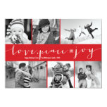 Love Peace Joy Multi Grid Holiday Photo Greetings Invitation