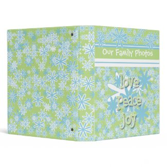 Love, Peace, Joy Photo Book Binder binder